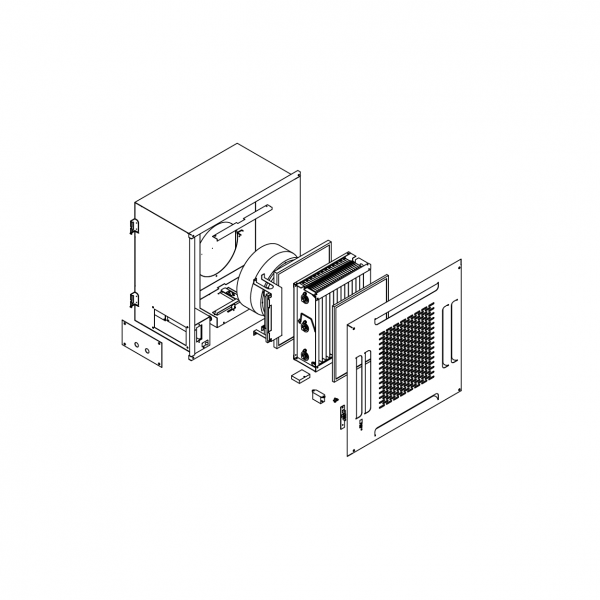 Ceiling Cassette Type Electrostatic Precipitator Structure