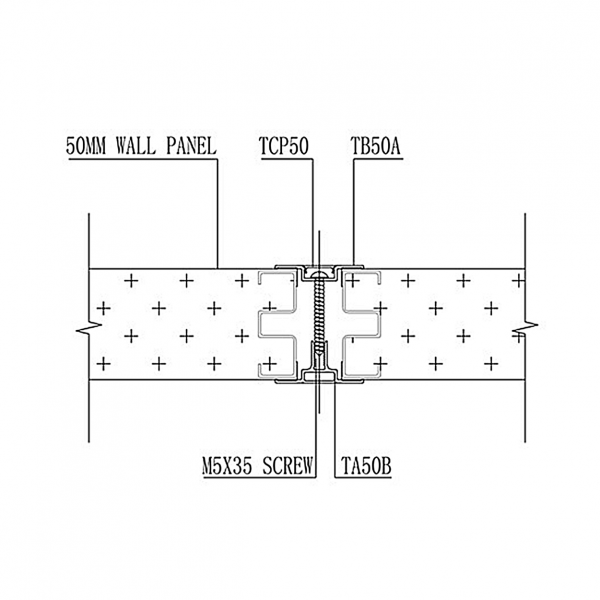 B50 STUD-LESS WALL PANEL SYSTEM Intermediate Batten & Capping Joint