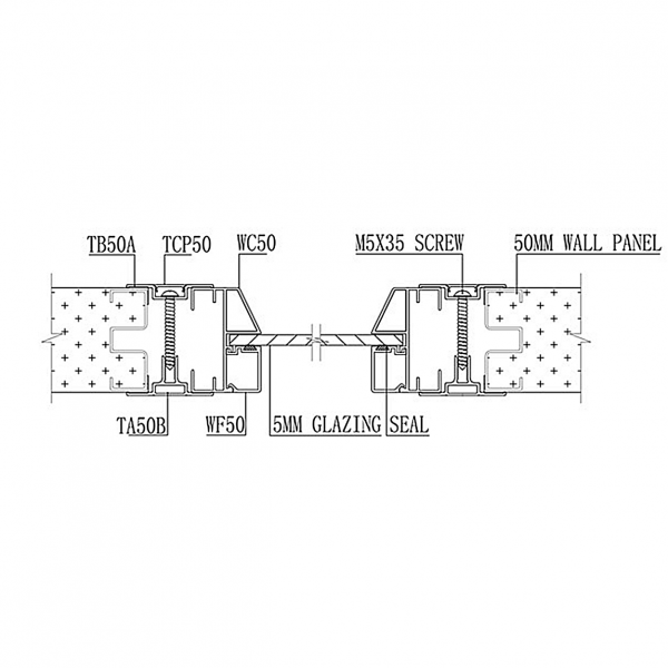 B50 STUD-LESS WALL PANEL SYSTEM Window & Panel Joint