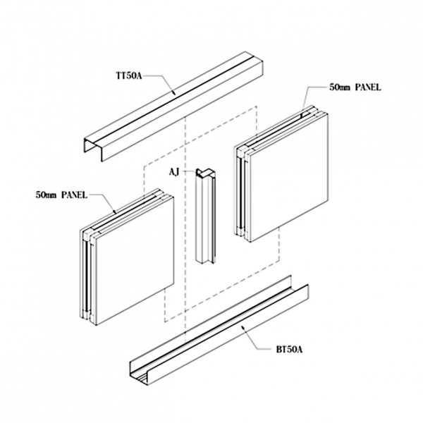 C50 CAULKING WALL PANEL SYSTEM Drawing