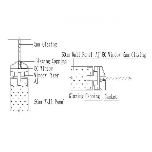C50 CAULKING WALL PANEL SYSTEM Window & Panel Joint