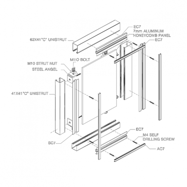 CL2000 CLADDING WALL PANEL SYSTEM Drawing