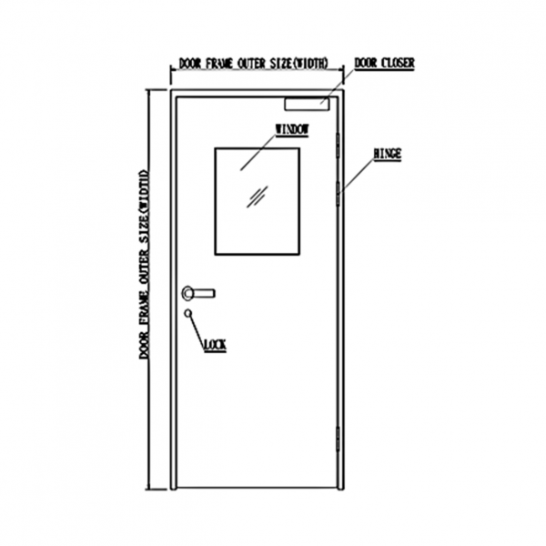 Pharmaceutical DL2 Door System Drawing