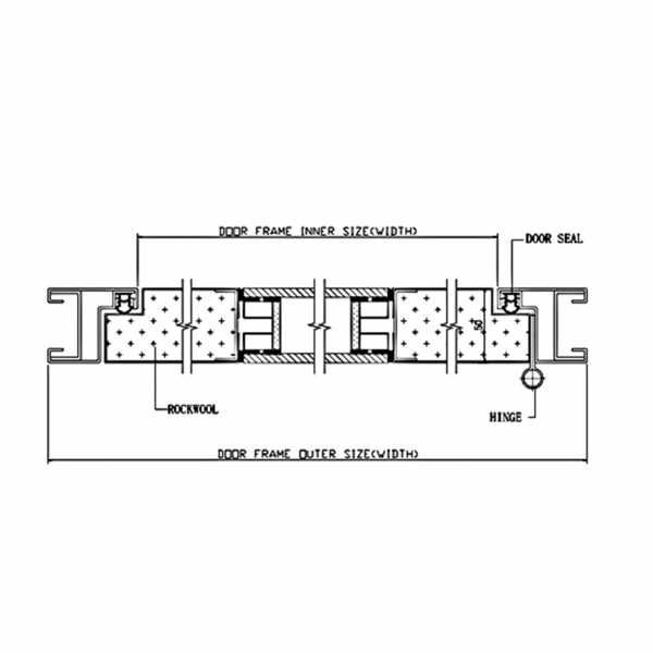 Pharmaceutical DL2 Door System Type DL2 Section Drawing2