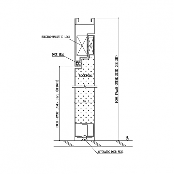 Pharmaceutical DL3 Door System Type L3 Section Drawing