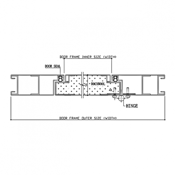 Pharmaceutical Door System Type DL3 Section Drawing