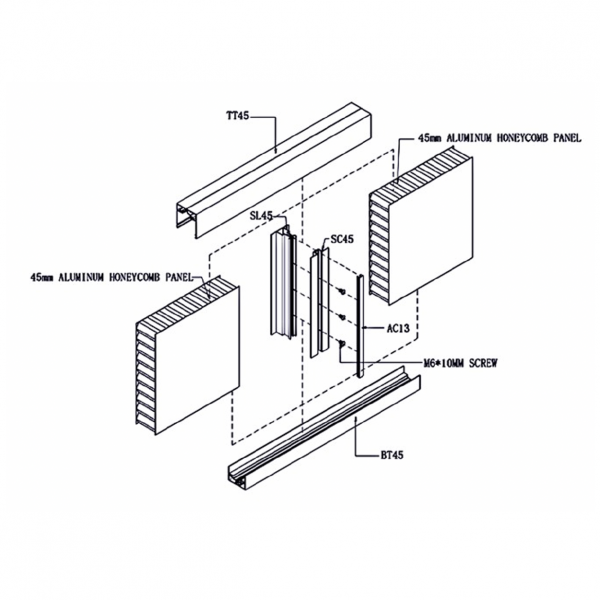 SL2000 STUD- LESS WALL PANEL SYSTEM Detail Drawing