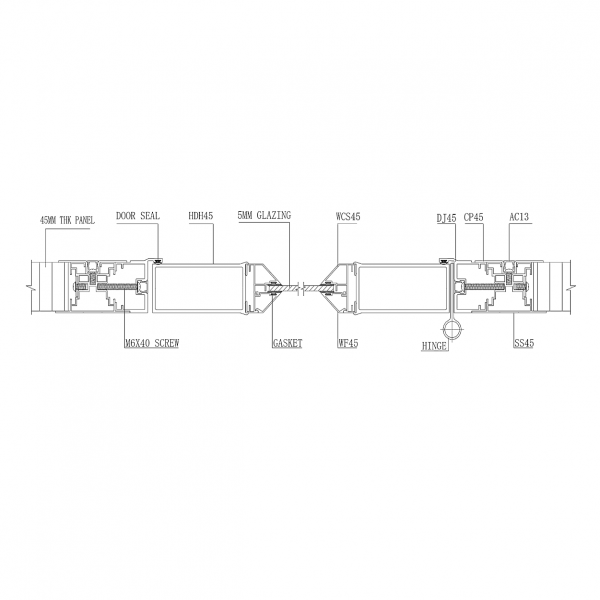 SL2000 STUD- LESS WALL PANEL SYSTEM Door & Panel Joint