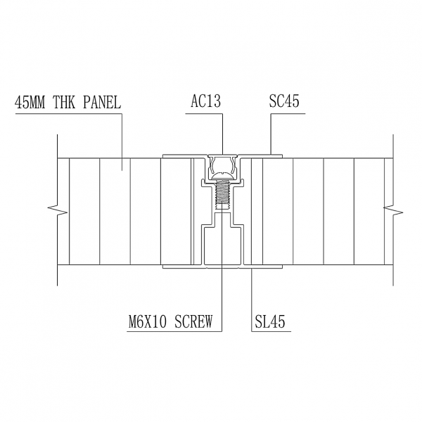 SL2000 STUD- LESS WALL PANEL SYSTEM Intermediate Batten & Capping Joint
