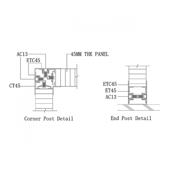 SS2000 STUD WALL PANEL SYSTEM corner & end post joint